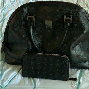 MCM bag and wallet